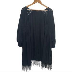 Dex Black Boho Cotton Kimono 2X